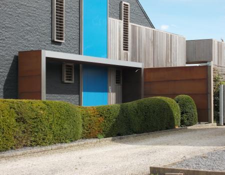 Moderne luifel voordeur