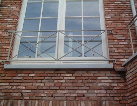 Kassieke Beveiliging venster gepoederlakt