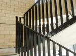 balustrade met verticale spijlen, gepoederlakt in zwart