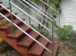Moderne balustrade in inox, geborsteld