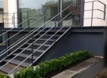 strakke balustrade in plat staal 40x10