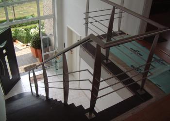Reling trap speciale steun, modern, design, gepoederlakt, decoratief