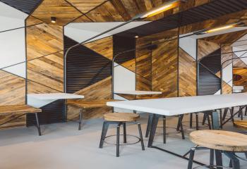Tafel Hout Staal : Van impe constructies maatwerk in staal en inox